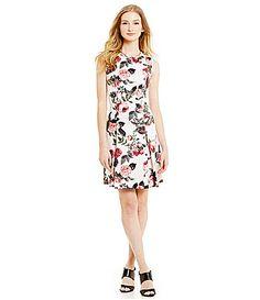 Cece By Cynthia Steffe Bouquet Estate Printed Dress #Dillards