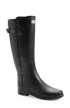 Free shipping and returns on Hunter 'Original Refined' Rain Boot (Women) at Nordstrom.com. A sleek back strap and thin, lightweight sole provide polished updates for a classic tall rain boot in a striking two-tone finish.
