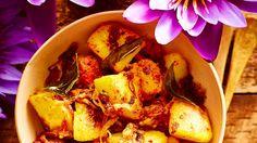 Devilled potatoes (ala thel dala) recipe : SBS Food