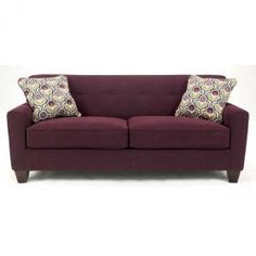 Danielle Eggplant Sofa At Metro Decor Furniture.
