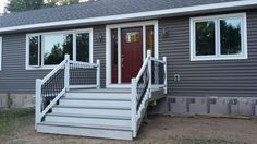 Composite and wood front porch
