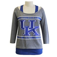 "Kentucky Wildcats ""2 For 1 Heather Grey"" Boatneck #UniversityofKentucky #UK…"