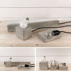 wood and concrete…two of my many favourite things. concrete lamps #ConcreteLamp