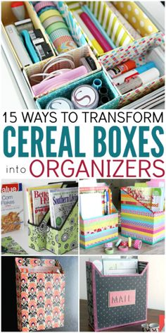 15 ways to transform cereal boxes into organizers