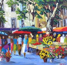 Matisse Art, Watercolor Landscape Paintings, Painting People, Provence, City Art, Cool Paintings, Art Market, Architecture Art, Painting & Drawing