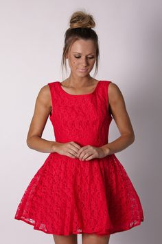 lottie lace cocktail- red...so cute!