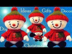 Muñecos de nieve a Crochet Ideas regalos decora tu Navidad tejido tallermanualperu - YouTube