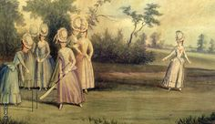Cricket match played by the Countess of Derby and other ladies (1779) read article on How women Changed Cricket http://www.lords.org/news/our-blogs/the-zoe-english-blog/how-women-changed-the-game/