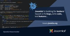 Love to squash or fix #bugs, test new features or write new awesome code? We would love you to #contribute to the Joomla! development!