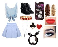 """Alice In Wonderland (modern)"" by fabiola-maria on Polyvore featuring moda, Honor, Disney, Ash, Alison Lou, Karen Kane y modern"