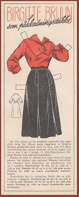 Ingrids Påklædningsdukker: Tempo 1954 Birgitte Bruun