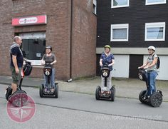 Drei Damen unternahmen eine Segway-Tour durch Frintrop  Den eigenen Stadtteil auf zwei Rädern zu erkunden, macht schon mit dem Fahrrad viel Spaß Segway Tour, Sport, Baby Strollers, Gym Equipment, Bicycle, Children, Explore, Baby Prams, Young Children