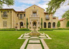 Private Residence - Mediterranean Tuscan - mediterranean - exterior - dallas - Harold Leidner Landscape Architects