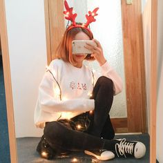 Korean styled outfits for Christmas  Merry Christmas!                                                                          ...