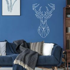Wall Sticker, Wall Decals, Geometric Deer, Wall Tattoo, Bumper Stickers, It's Your Birthday, Latex, Tiles, This Or That Questions