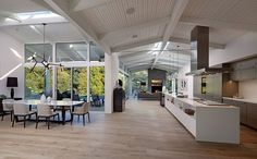 Fumed-oak Floors - Mid-century Remodel - Modern Home - Minimalist Palette - Living Space - Interior Design