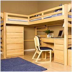 Çalışma masası olan ranza modelleriOy Kullan Yetişkinler ve gençler için modern dekorlu mobilya ranza modelleri