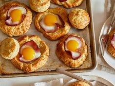 Get Biscuit Egg-in-a-Hole Recipe from Food Network