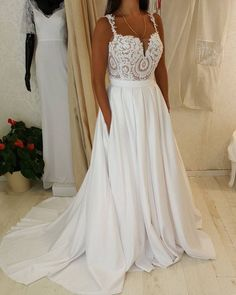 very pretty plus size wedding gown