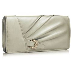 Geanta plic argintie Ruth Evening Bags, Fashion Forward, Satin, Crystals, Silver, Stuff To Buy, Clutch Bags, Style, Delivery