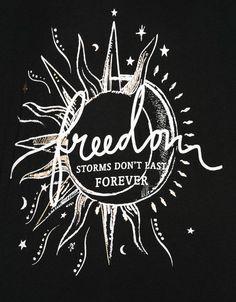 Maglietta stampa 'wait/freedom' - T- Shirts - Bershka Italy