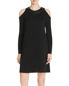 111.00$  Watch here - http://vijgn.justgood.pw/vig/item.php?t=stfeat4093 - Karen Kane Sequined Cold Shoulder Dress - 100% Exclusive 111.00$