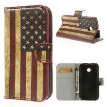 Buchdesign Tasche für Motorola Moto E Design Fahne USA 1 7,99 €