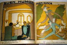 Tomo encuadernado de revistas satíricas Buen Humor de los años 1924-1925 Madrid