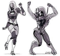 Tali and Legion dancin http://fuckyeah-masseffect.tumblr.com