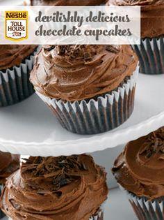 Devilishly Delicious Chocolate Cupcakes