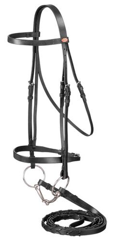 d7e1290606d Check out the deal on English Snaffle Bridle and Reins - Brown Leather -  Full Size