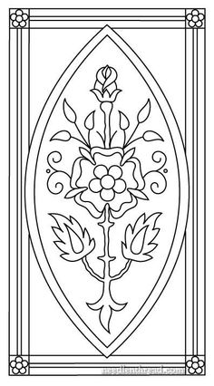 Mission Rose as Im doing it is not an ecclesiastical piece  its simply decorative embroidery and for now my finished vision of it involves framing and hanging. I think if the design were a little wider it would make a nice book cover or something like that. It would also make a great insert for a box top for a long box that opens on the short end. But for me I want to frame this one.