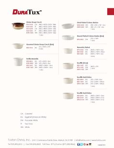 Crocks, Creme Brulee & Souffles Collection from DuraTux by Tuxton China