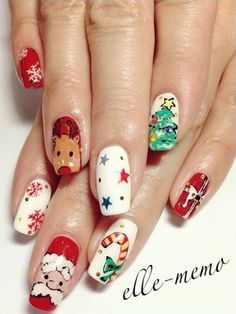 Cute christmas nails - 40+ Cute Nail Designs  <3 !