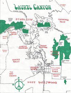 California Fool's Gold — Exploring Laurel Canyon Rock Revolution, Topanga Canyon, San Fernando Valley, Space Mountain, Laurel Canyon, Hollywood, Vintage Travel Posters, Dream Decor, New Wall