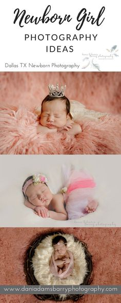 Newborn Girl Photography Ideas and Inspiration- Dallas TX Newborn Photography Dani Adams-Barry Photography- Pin for Later!