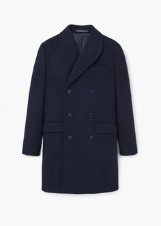 Navy over coat