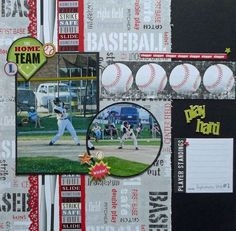 Scrapbook Layout. I think I can use this one! LOL!