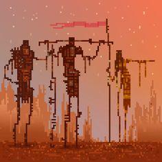 Pixel art gifs by Waneella Cool Pixel Art, Cool Art, Minecraft Banner Designs, Pixel Characters, 8 Bit Art, Pixel Animation, Pix Art, 8 Bits, Pixel Games