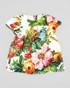 Short-Sleeve+Floral+Dress,+3-18+Months++by+Dolce+&+Gabbana+at+Neiman+Marcus.