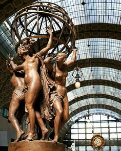 Musee D'Orsay, Paris, France ~ located in the former Gare d'Orsay, an impressive Beaux-Arts railway station built between 1898 and 1900