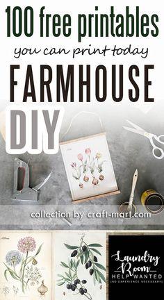 100 best farmhouse printables
