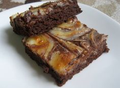 Brownies con queso crema