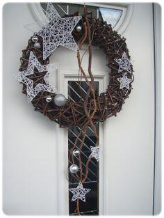 DOMOV... Door Wreaths, Grapevine Wreath, Burlap Wreath, Advent, Christmas Time, Christmas Wreaths, Decoupage, Diy And Crafts, Home Decor