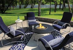 LOVE LOVE LOVE THIS SET. irque Aluminum Conversation Lounge Set for 4 Homecrest Outdoor Living MADE IN USA