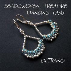 TUTORIAL - Beadwoven treasure - Dancing Fans and Hana Ami motif from Extrano