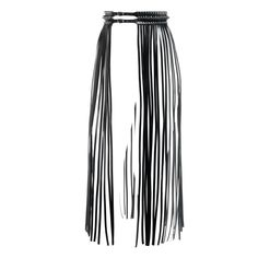YVY - 1001 collection- Leather Fringe Belt - yvy.ch Picture by Karine+Oliver