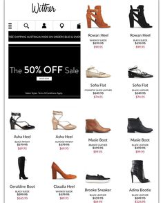 Calling all shoe lovers! 50% off lots of styles at #wittner #onsale now. #ladiesshoes #stilletos #boots #sandals #sneakers #slides #wedges #flatshoes @wittnershoes