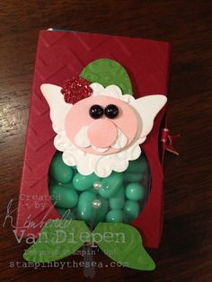 Santa, Elf, & Monster Tic Tac Holders by Kimberly with link to video.