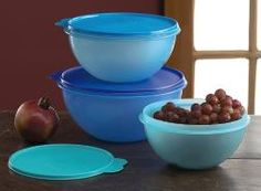 Tupperware Wondelier Bowl Set - perfect for a salad bar at your next gathering.  One of my favorite products - not only airtight but water tight seals.